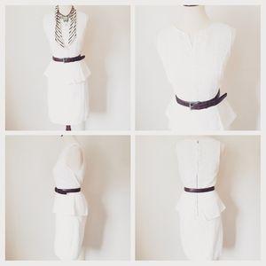Max studio peplum ivory lace dress 8